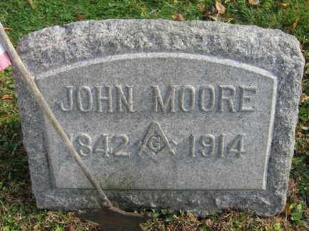 MOORE, JOHN M. - Hunterdon County, New Jersey | JOHN M. MOORE - New Jersey Gravestone Photos