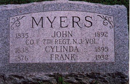 MYERS, JOHN - Hunterdon County, New Jersey | JOHN MYERS - New Jersey Gravestone Photos