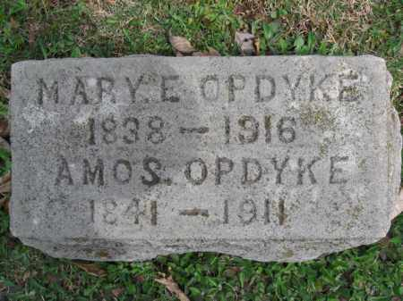 OPDYKE, AMOS - Hunterdon County, New Jersey | AMOS OPDYKE - New Jersey Gravestone Photos