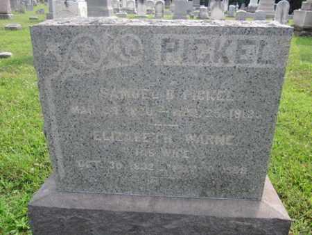 PICKEL, SAMUEL B. - Hunterdon County, New Jersey | SAMUEL B. PICKEL - New Jersey Gravestone Photos