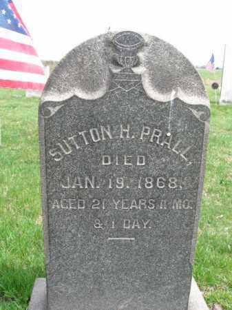 PRALL, SUTTON H. - Hunterdon County, New Jersey   SUTTON H. PRALL - New Jersey Gravestone Photos