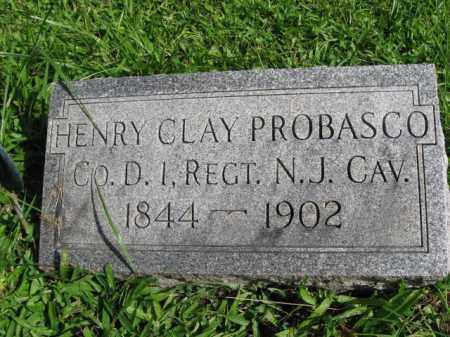 PROBASCO, HENRY CLAY - Hunterdon County, New Jersey | HENRY CLAY PROBASCO - New Jersey Gravestone Photos