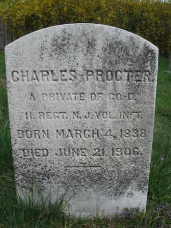 PROCTOR (PROCTER), CHARLES - Hunterdon County, New Jersey   CHARLES PROCTOR (PROCTER) - New Jersey Gravestone Photos