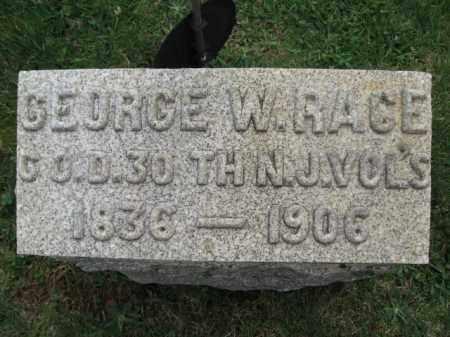 RACE, GEORGE W. - Hunterdon County, New Jersey | GEORGE W. RACE - New Jersey Gravestone Photos
