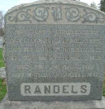 RANDELS, JOHN F. - Hunterdon County, New Jersey | JOHN F. RANDELS - New Jersey Gravestone Photos