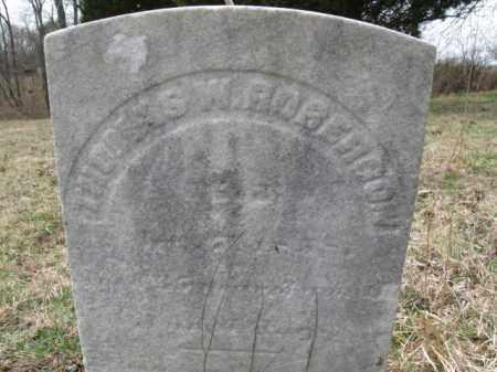 ROBERSON (ROBINSON), THOMAS W. - Hunterdon County, New Jersey   THOMAS W. ROBERSON (ROBINSON) - New Jersey Gravestone Photos