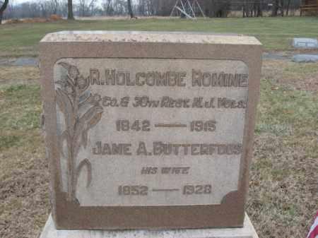 ROMINE, R. HOLCOMBE - Hunterdon County, New Jersey | R. HOLCOMBE ROMINE - New Jersey Gravestone Photos
