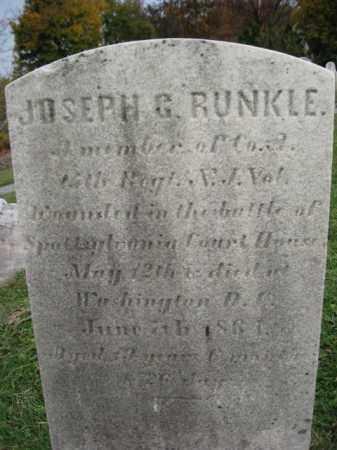 RUNKLE, JOSEPH G. - Hunterdon County, New Jersey | JOSEPH G. RUNKLE - New Jersey Gravestone Photos