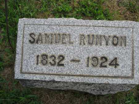 RUNYON, SAMUEL L. - Hunterdon County, New Jersey   SAMUEL L. RUNYON - New Jersey Gravestone Photos