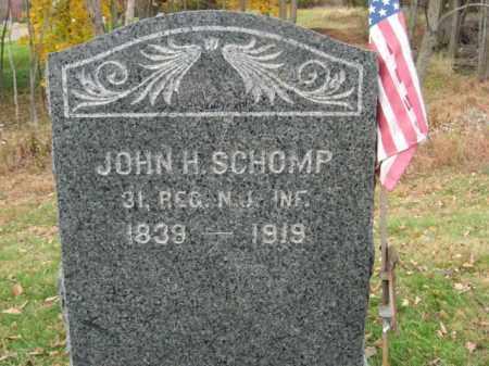 SCHOMP, JOHN H. - Hunterdon County, New Jersey   JOHN H. SCHOMP - New Jersey Gravestone Photos