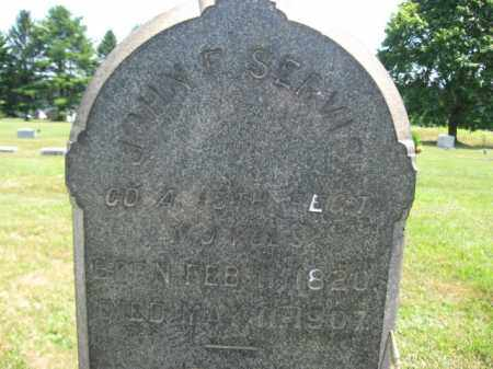 SERVIS, JOHN S. (F) - Hunterdon County, New Jersey | JOHN S. (F) SERVIS - New Jersey Gravestone Photos