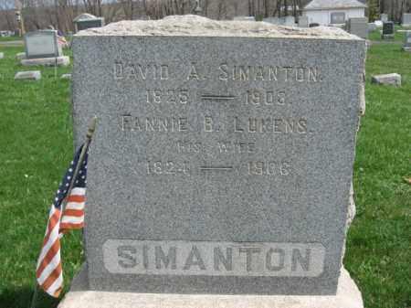 SIMANTON (SIMONTON), DAVID A. - Hunterdon County, New Jersey | DAVID A. SIMANTON (SIMONTON) - New Jersey Gravestone Photos
