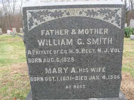 SMITH, WILLIAM G. - Hunterdon County, New Jersey   WILLIAM G. SMITH - New Jersey Gravestone Photos
