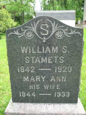 STAMETS (STAMETTS), WILLIAM S. - Hunterdon County, New Jersey | WILLIAM S. STAMETS (STAMETTS) - New Jersey Gravestone Photos