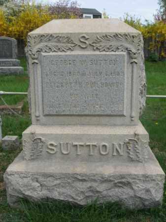 SUTTON, GEORGE W. - Hunterdon County, New Jersey | GEORGE W. SUTTON - New Jersey Gravestone Photos