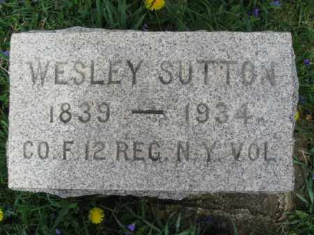 SUTTON, WESLEY - Hunterdon County, New Jersey | WESLEY SUTTON - New Jersey Gravestone Photos