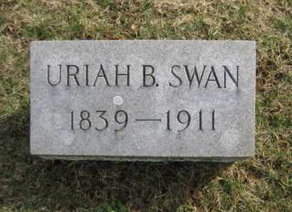 SWAN, URIAH B. - Hunterdon County, New Jersey | URIAH B. SWAN - New Jersey Gravestone Photos
