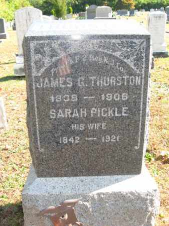 THURSTON, JAMES G. - Hunterdon County, New Jersey | JAMES G. THURSTON - New Jersey Gravestone Photos