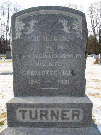 TURNER, DAVID H. - Hunterdon County, New Jersey | DAVID H. TURNER - New Jersey Gravestone Photos