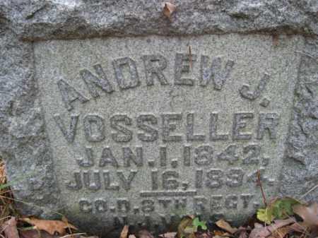 VOSSELLER (VUSLER), ANDREW J. - Hunterdon County, New Jersey   ANDREW J. VOSSELLER (VUSLER) - New Jersey Gravestone Photos