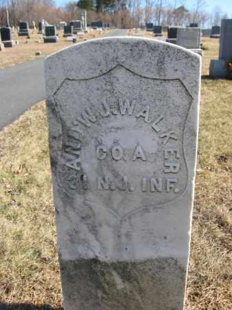 WALKER, ANDREW J. - Hunterdon County, New Jersey | ANDREW J. WALKER - New Jersey Gravestone Photos