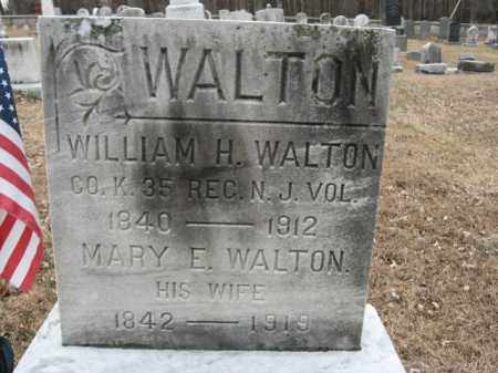 WALTON, WILLIAM H. - Hunterdon County, New Jersey | WILLIAM H. WALTON - New Jersey Gravestone Photos