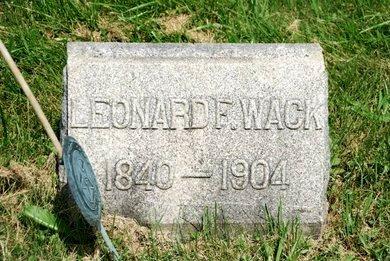 WACK, LEONARD F. - Hunterdon County, New Jersey | LEONARD F. WACK - New Jersey Gravestone Photos