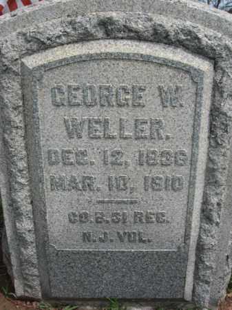 WELLER, GEORGE W. - Hunterdon County, New Jersey | GEORGE W. WELLER - New Jersey Gravestone Photos