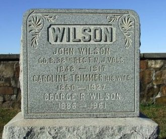 WILSON, JOHN - Hunterdon County, New Jersey | JOHN WILSON - New Jersey Gravestone Photos