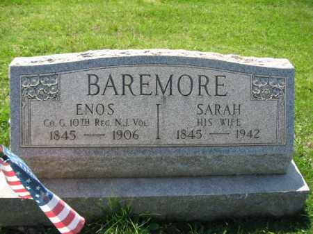 BAREMORE, ENOS - Mercer County, New Jersey | ENOS BAREMORE - New Jersey Gravestone Photos