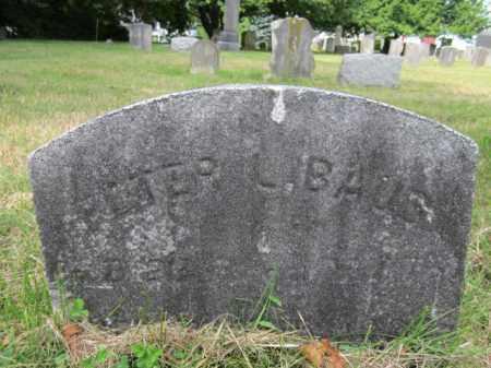 BAUS (BAUB), PETER L. - Mercer County, New Jersey | PETER L. BAUS (BAUB) - New Jersey Gravestone Photos