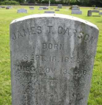 CARSON, JAMES T. - Mercer County, New Jersey | JAMES T. CARSON - New Jersey Gravestone Photos