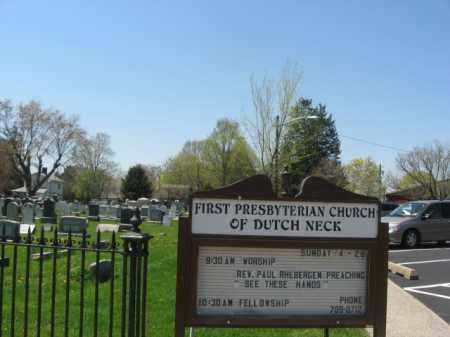 CEMETERY  SIGN, FIRST PRESBYTERIAN CHURCH OF DUTCH NECK - Mercer County, New Jersey | FIRST PRESBYTERIAN CHURCH OF DUTCH NECK CEMETERY  SIGN - New Jersey Gravestone Photos
