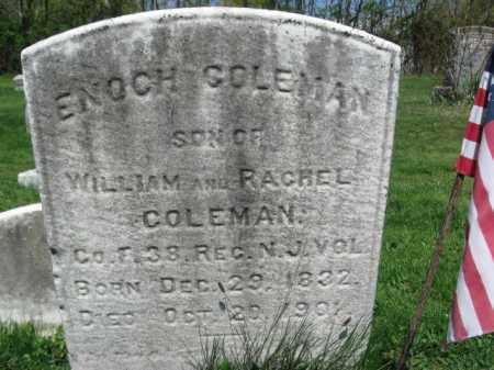 COLEMAN, ENOCH - Mercer County, New Jersey | ENOCH COLEMAN - New Jersey Gravestone Photos