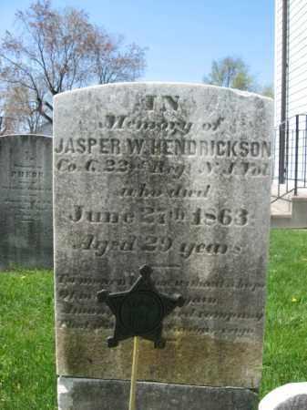 HENDRICKSON, JASPER W. - Mercer County, New Jersey | JASPER W. HENDRICKSON - New Jersey Gravestone Photos
