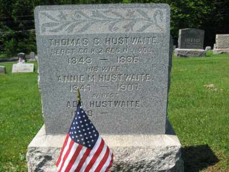 HUSTWAITE, SERGT. THOMAS C. - Mercer County, New Jersey | SERGT. THOMAS C. HUSTWAITE - New Jersey Gravestone Photos