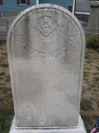 HUTCHINSON, HENRY B. - Mercer County, New Jersey | HENRY B. HUTCHINSON - New Jersey Gravestone Photos