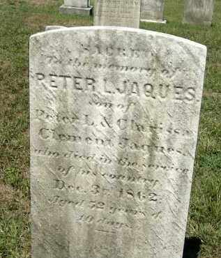 JAQUES, PETER L. - Mercer County, New Jersey | PETER L. JAQUES - New Jersey Gravestone Photos