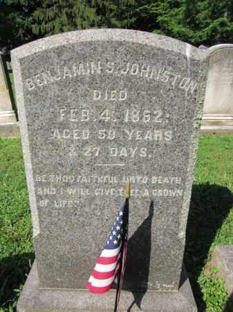 JOHNSTON, BENJAMIN S. - Mercer County, New Jersey   BENJAMIN S. JOHNSTON - New Jersey Gravestone Photos