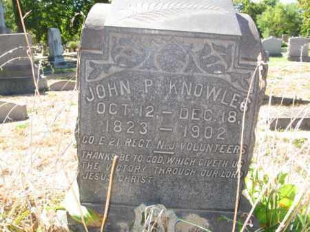 KNOWLES, JOHN P. - Mercer County, New Jersey | JOHN P. KNOWLES - New Jersey Gravestone Photos