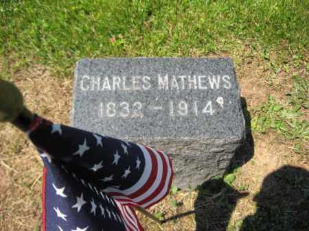MATHEWS, CHARLES - Mercer County, New Jersey | CHARLES MATHEWS - New Jersey Gravestone Photos
