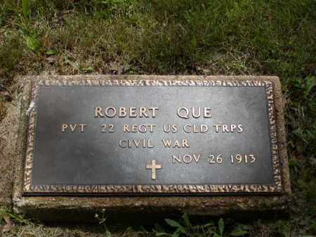 QUE (OVE), ROBERT - Mercer County, New Jersey | ROBERT QUE (OVE) - New Jersey Gravestone Photos