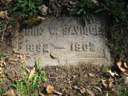 SAVIDGE, JOHN W. - Mercer County, New Jersey   JOHN W. SAVIDGE - New Jersey Gravestone Photos