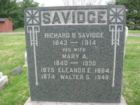 SAVIDGE, RICHARD B. - Mercer County, New Jersey | RICHARD B. SAVIDGE - New Jersey Gravestone Photos