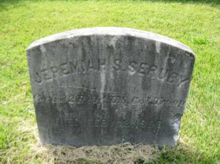 SERUBY, JEREMIAH S. - Mercer County, New Jersey | JEREMIAH S. SERUBY - New Jersey Gravestone Photos
