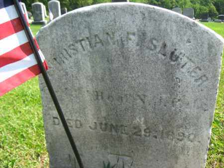 SLUTER, CHRISTIAN - Mercer County, New Jersey | CHRISTIAN SLUTER - New Jersey Gravestone Photos