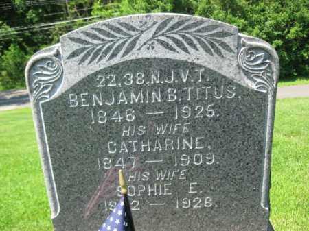 TITUS, BENJAMIN B. - Mercer County, New Jersey | BENJAMIN B. TITUS - New Jersey Gravestone Photos