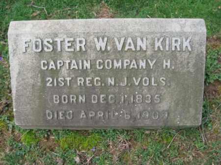 VAN KIRK, CAPT.FOSTER W. - Mercer County, New Jersey   CAPT.FOSTER W. VAN KIRK - New Jersey Gravestone Photos