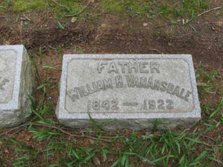 VANARSDALE, WILLIAM H. - Mercer County, New Jersey | WILLIAM H. VANARSDALE - New Jersey Gravestone Photos