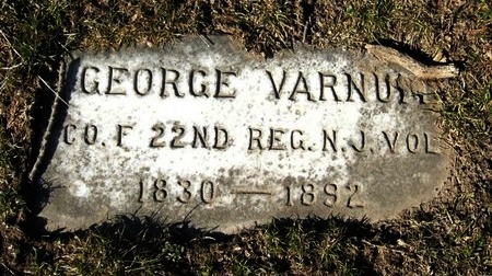 VARNUM, GEORGE - Mercer County, New Jersey   GEORGE VARNUM - New Jersey Gravestone Photos